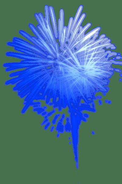 Fuegos Artificiales Azules Brillantes Png Transparente Stickpng