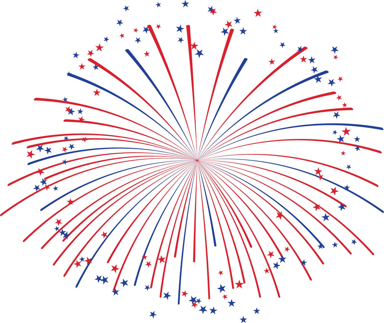 May The Fourth Be With You Transparent: Red And Blue Fireworks Transparent PNG