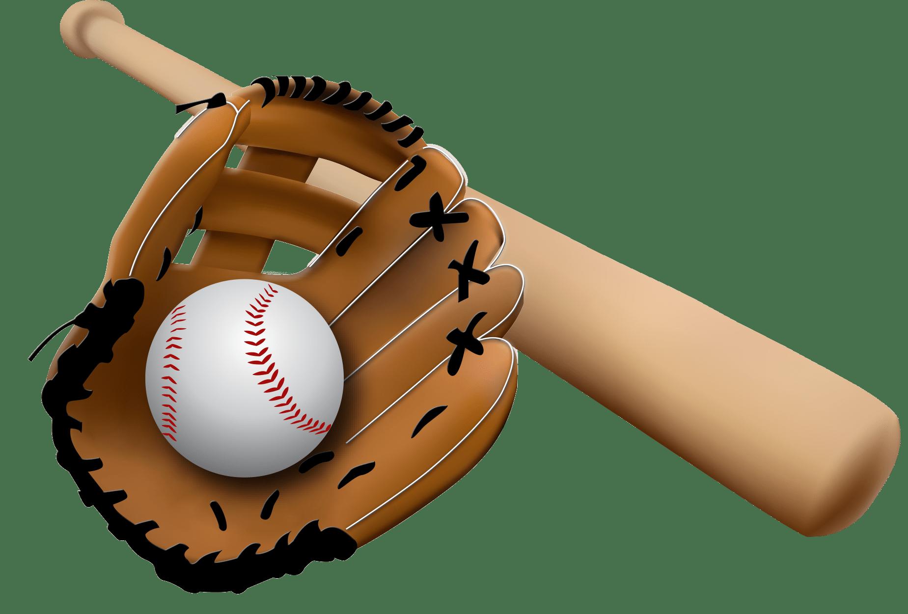 Baseball Glove and Bat transparent PNG - StickPNG