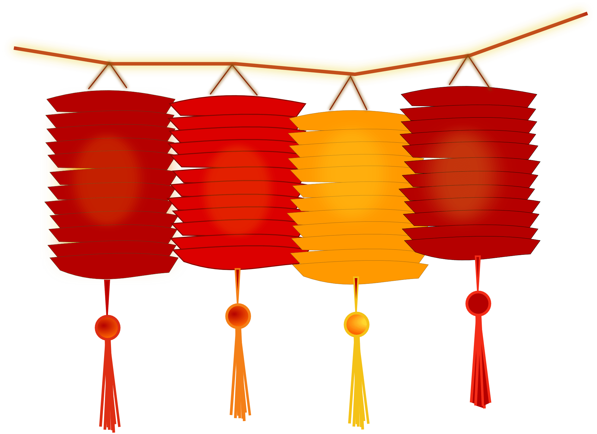 Lanterns For Chinese New Year Transparent Png Stickpng