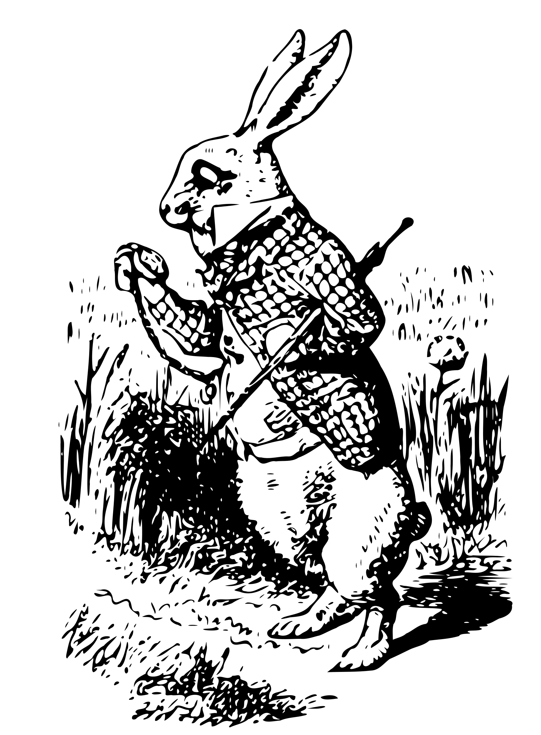alice in wonderland vintage rabbit transparent png stickpng