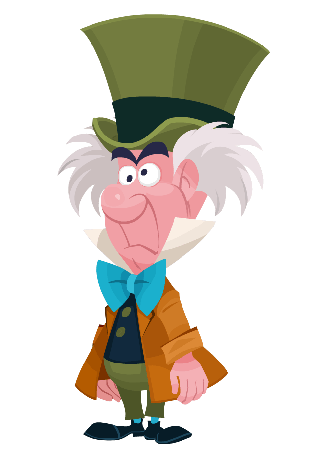 mad hatter disney transparent png stickpng