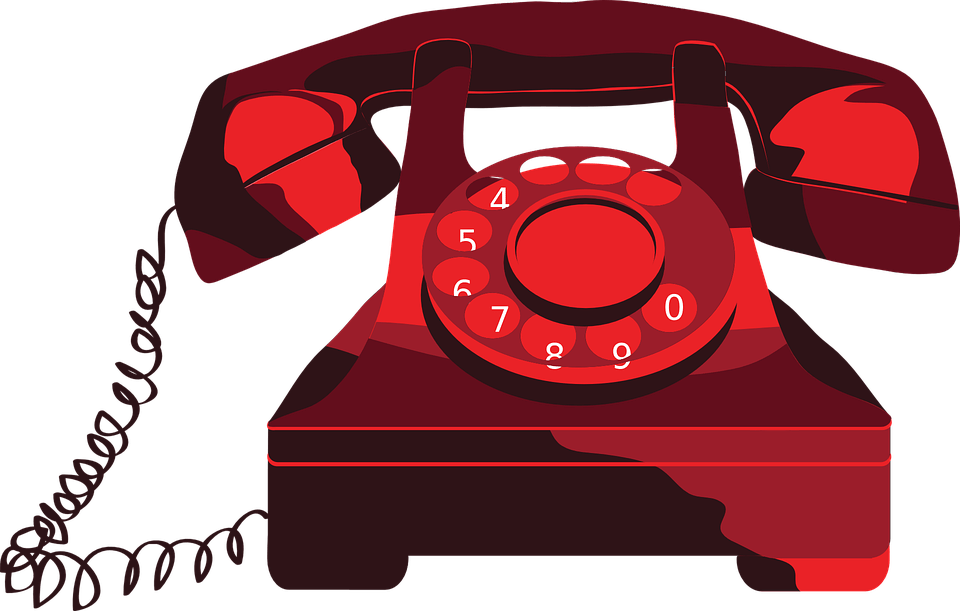 Red Telephone Clipart Transparent Png Stickpng
