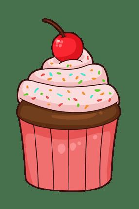 Dessin De Cupcake Rose Png Transparents Stickpng