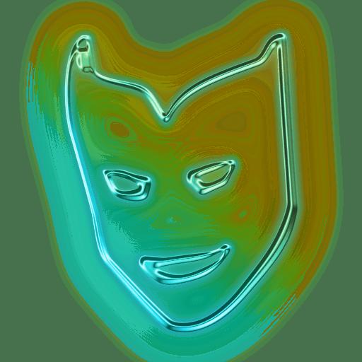 Neon Mask Snapchat Filter transparent PNG - StickPNG