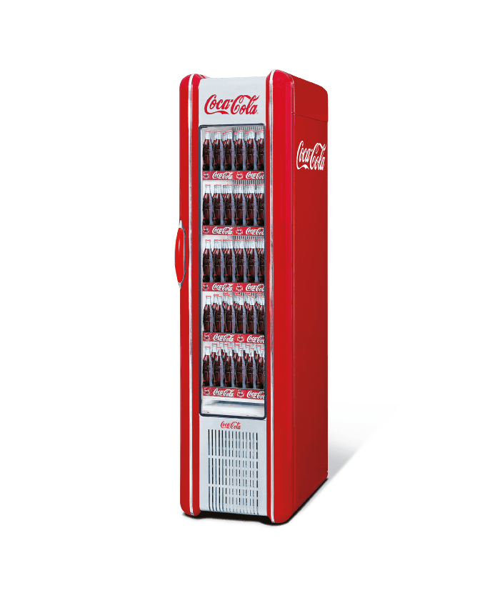Retro coca cola fridge transparent png stickpng for 1 door retro coke cooler