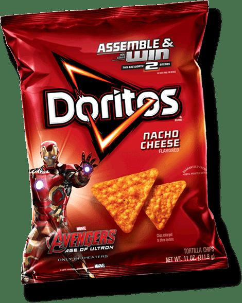 doritos nacho cheese avengers transparent png stickpng