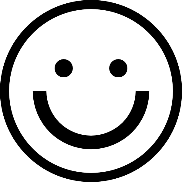 Black and White Smiley transparent PNG - StickPNG