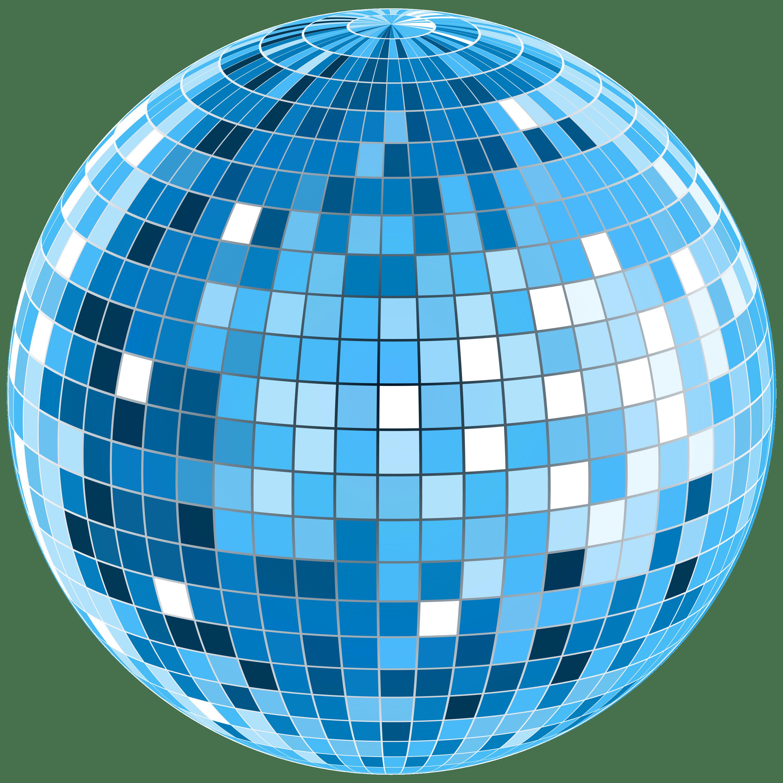 blue disco ball transparent png stickpng