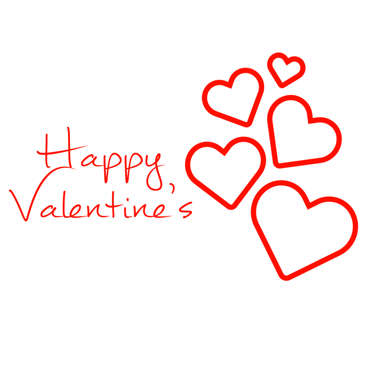 Happy Valentine S Hearts Falling Transparent Png Stickpng