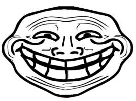 Troll large smile transparent png stickpng download people troll face voltagebd Image collections