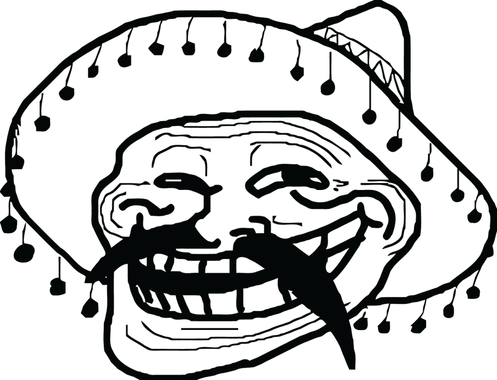 Mexican Meme Troll Face Transparent Png Stickpng