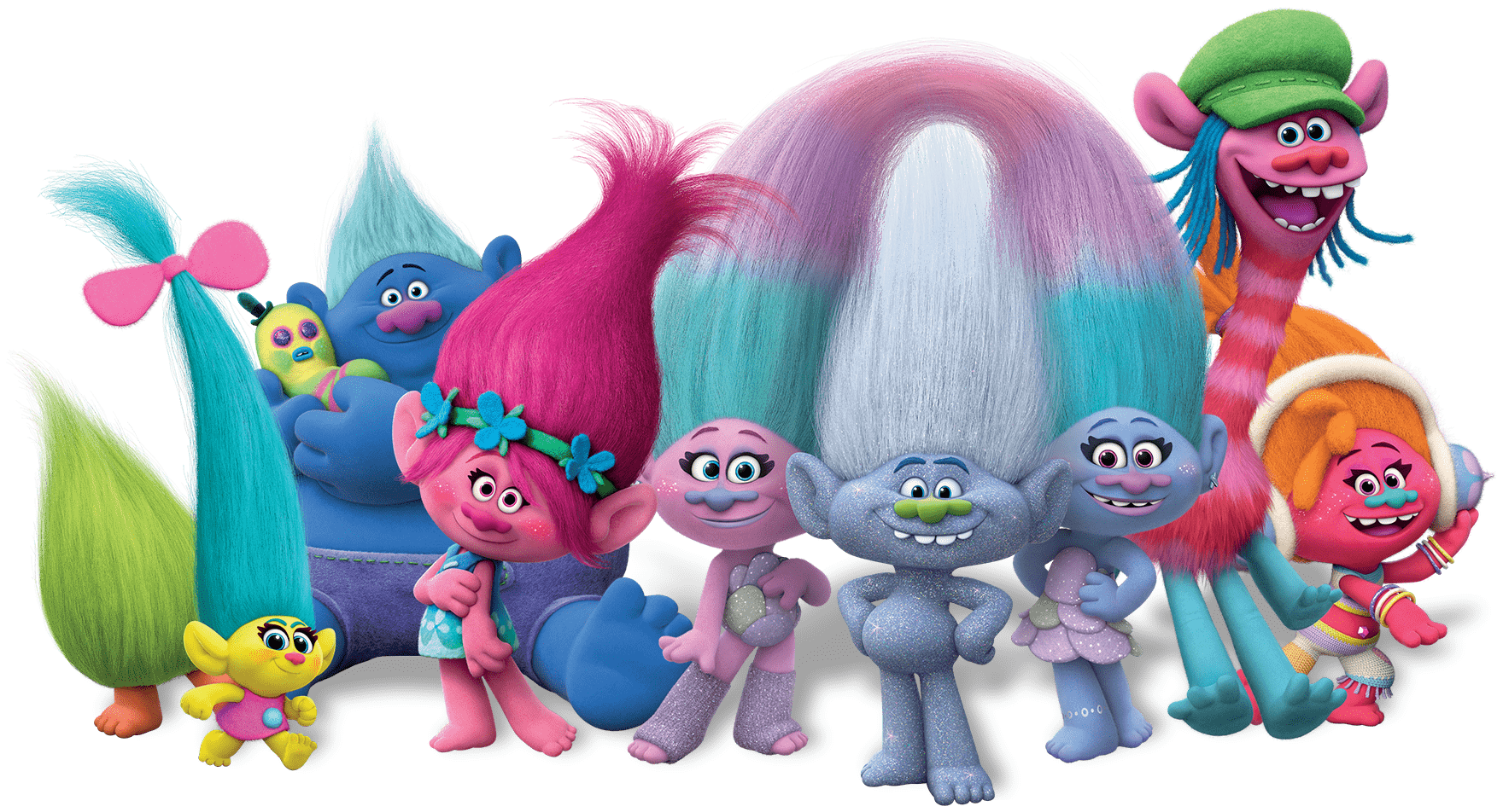 Trolls Full Group Transparent PNG