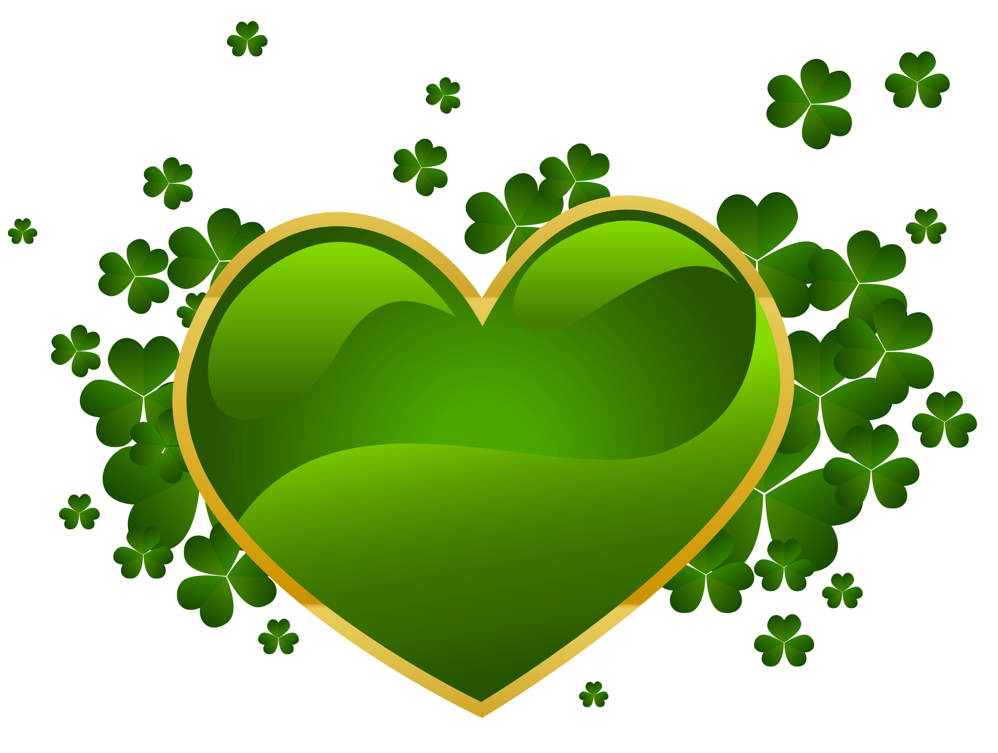 happy st patrick u0027s day green heart transparent png stickpng