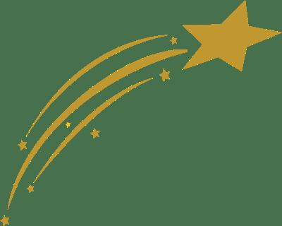 Gold Shooting Star transparent PNG - StickPNG