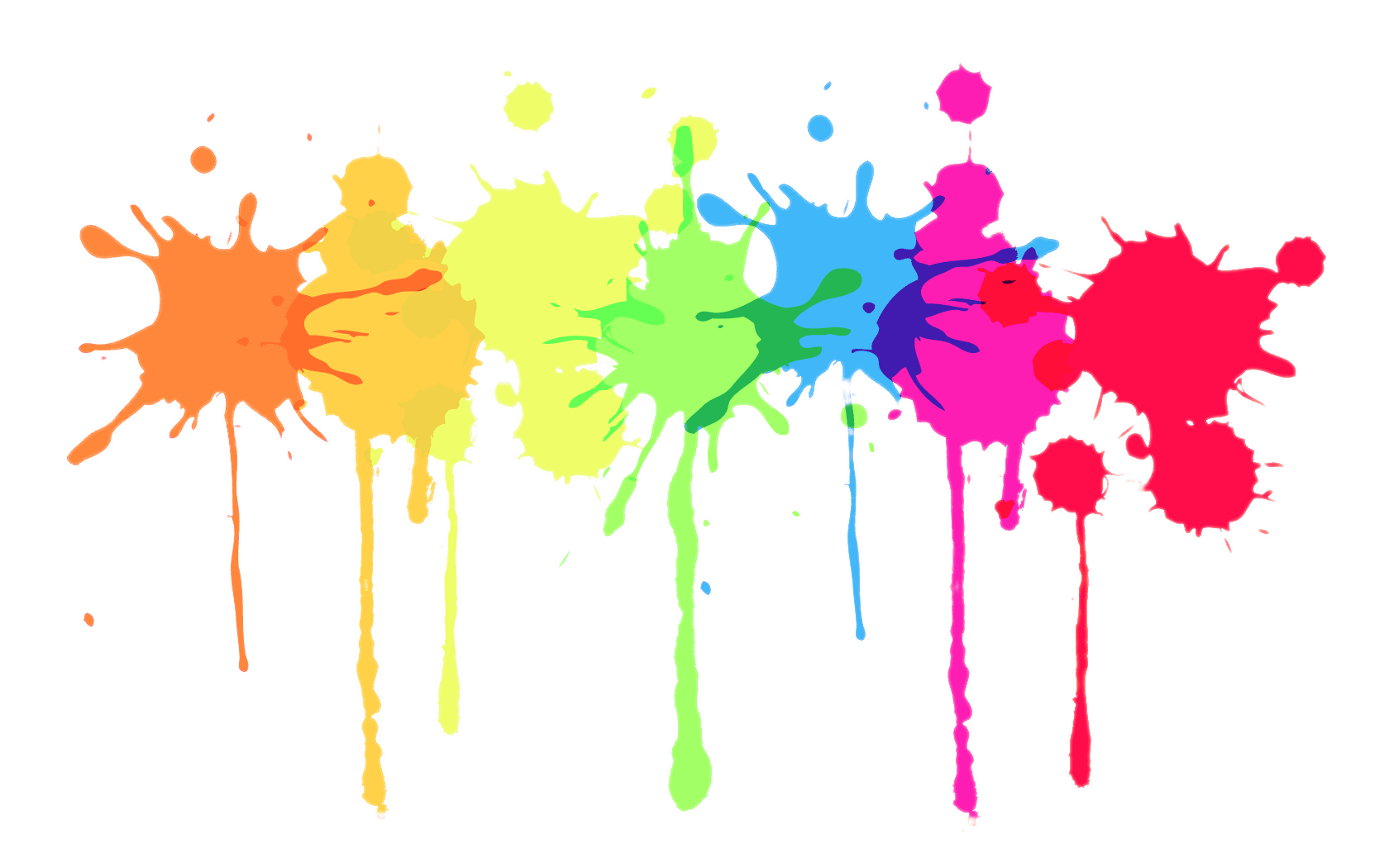 Multicolour Paint Splatter transparent PNG - StickPNG