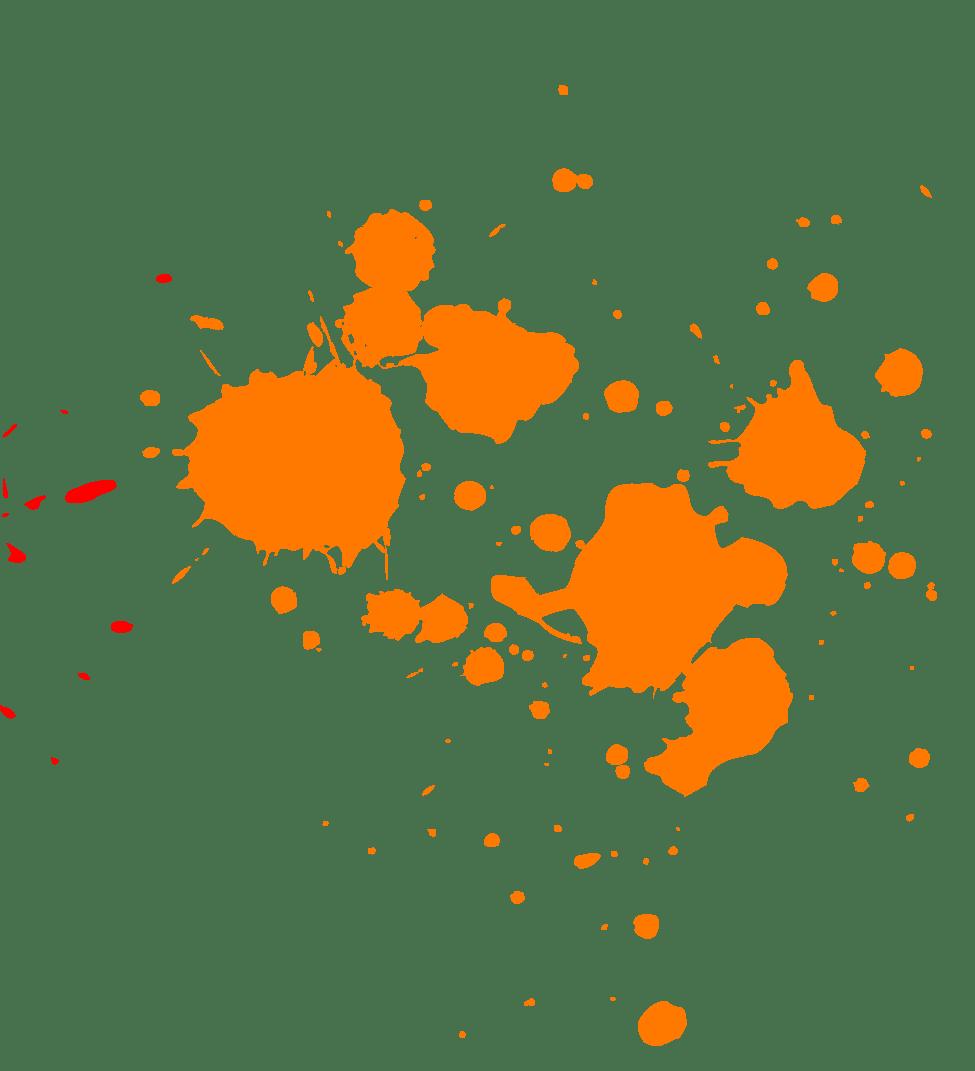orange paint splatter transparent png stickpng Splat Vector Art ink splat vector free download