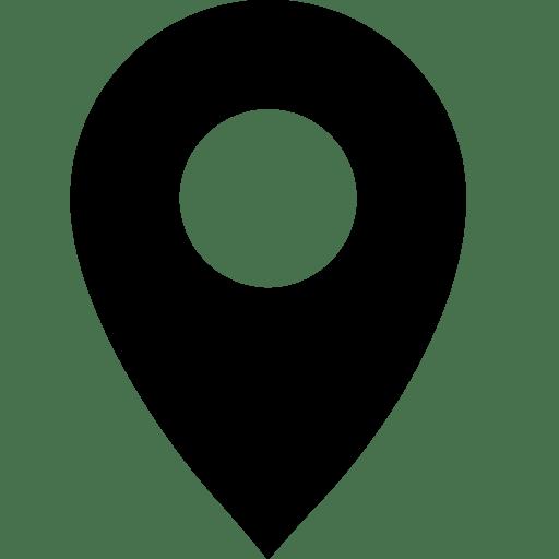 Map Push Pin Transparent Background: Black Map Pin Transparent PNG