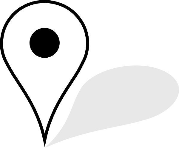 Location Emoji Icono Ubicacion: White Map Pin With Shadow Transparent PNG