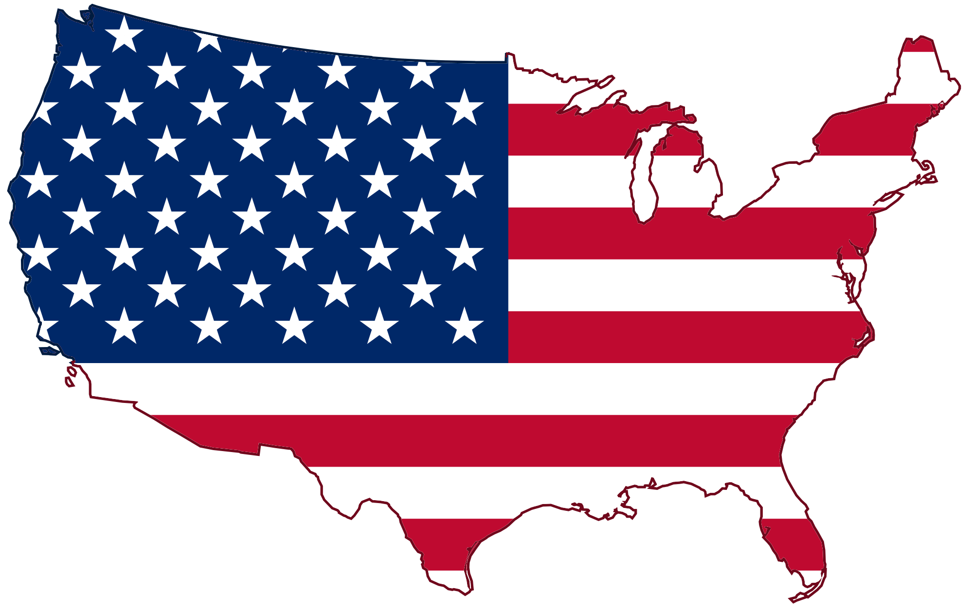 Usa Flag Map transparent PNG - StickPNG