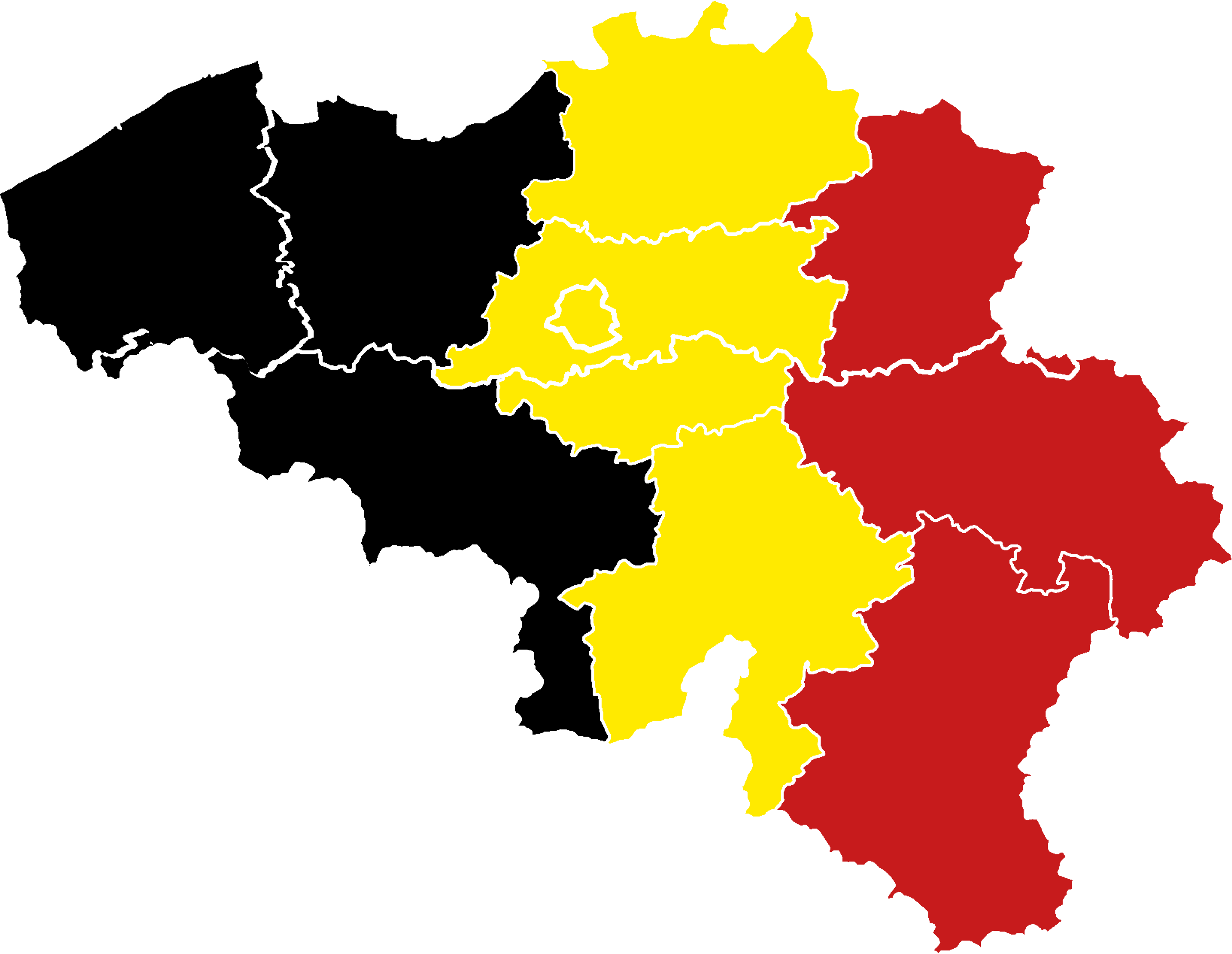 Belgium Flag Map Transparent PNG StickPNG - Map of belgium