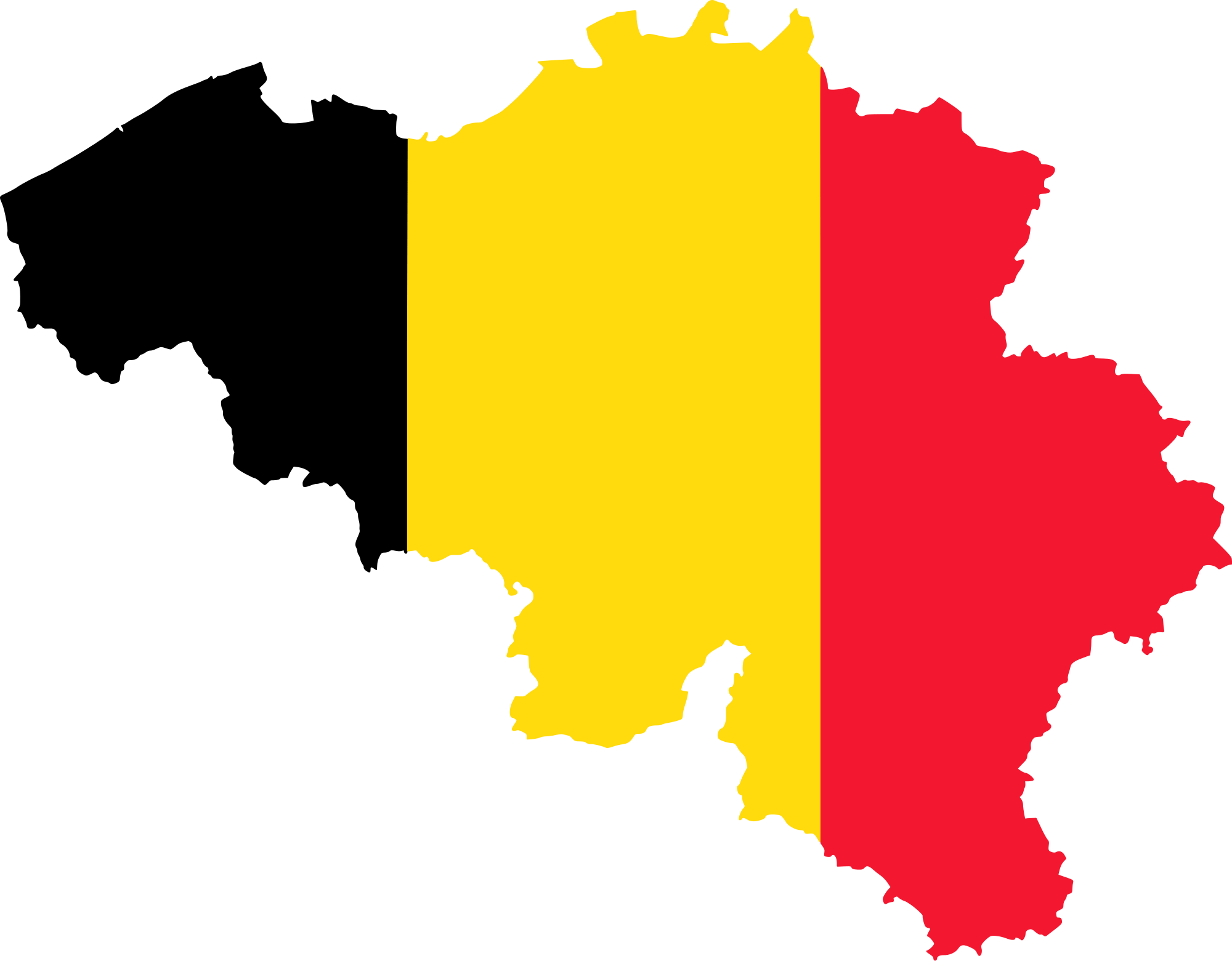 belgium map flag