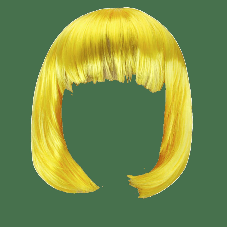 Wig Yellow Bob Transparent Png Stickpng