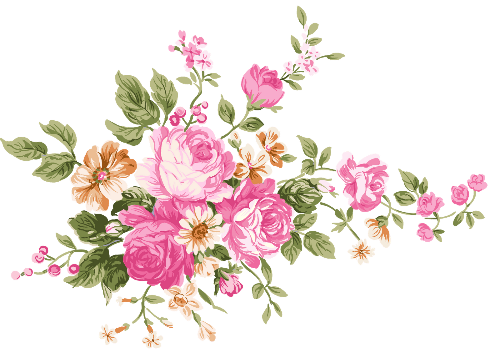 Vintage Bouquet Of Flowers transparent PNG   StickPNG