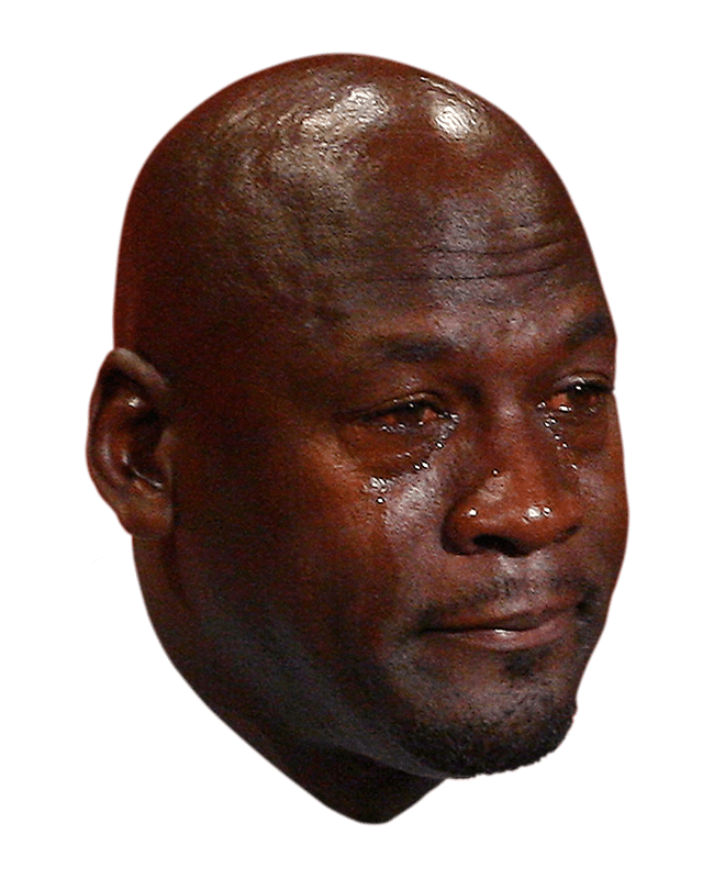 Michael jordan crying face