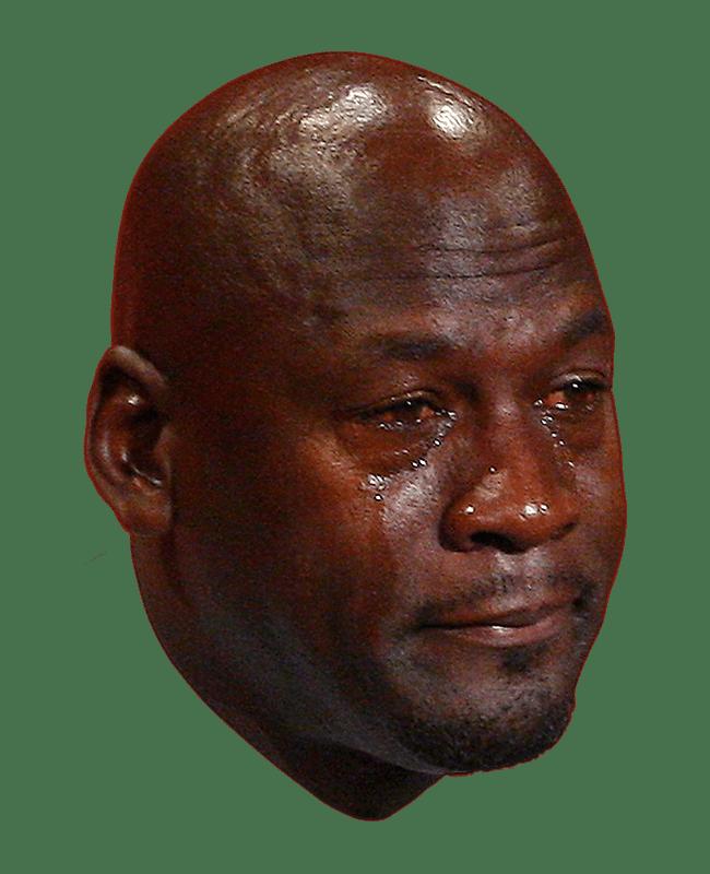 Michael Jordan Crying Face Transparent Png Stickpng