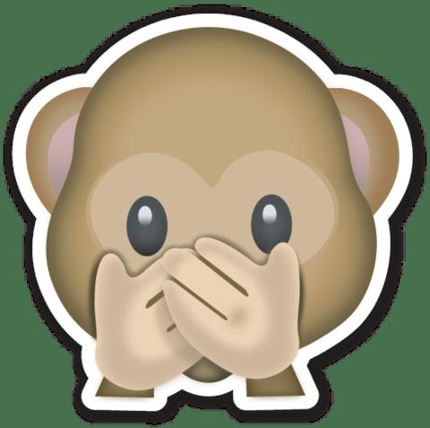 Monkey Hidden Face Emoji transparent PNG - StickPNG