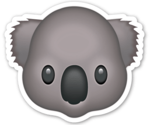 Koala Emoji Transparent Png Stickpng