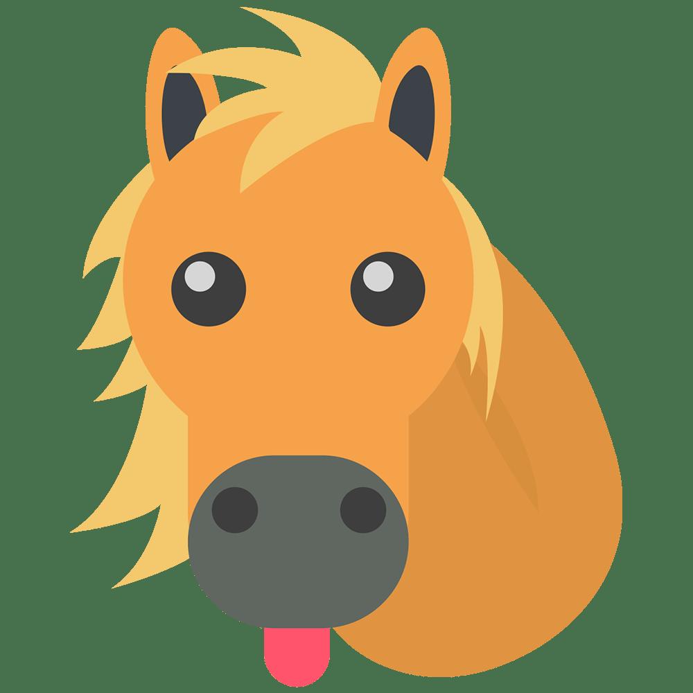 Horse Emoji Transparent Png Stickpng