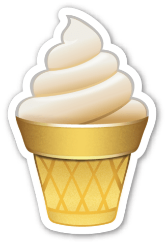 Ice Cream Emoji Transparent Png Stickpng