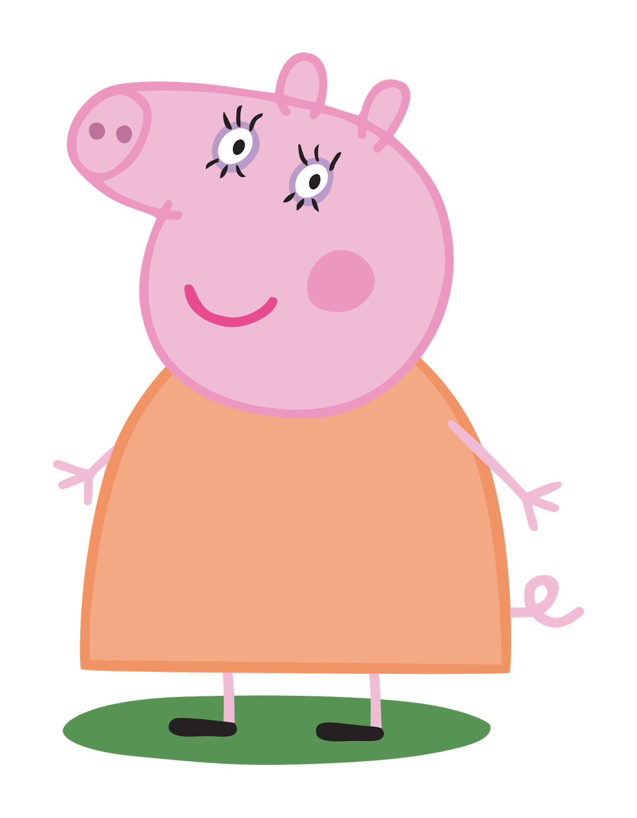 mummy pig transparent png stickpng Free Peppa Pig Clip Art Black and White free peppa pig clips