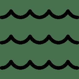 Waves black. Wave lines transparent png