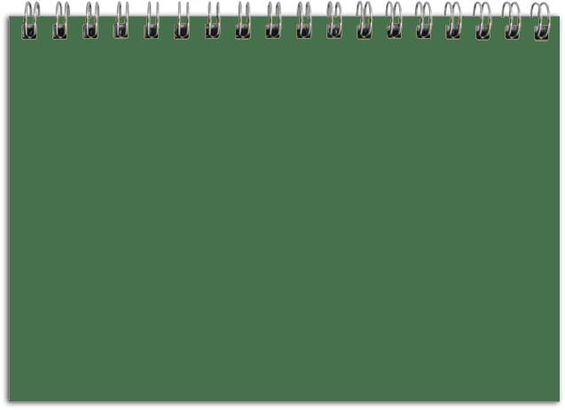 Landscape Notebook Page Transparent PNG