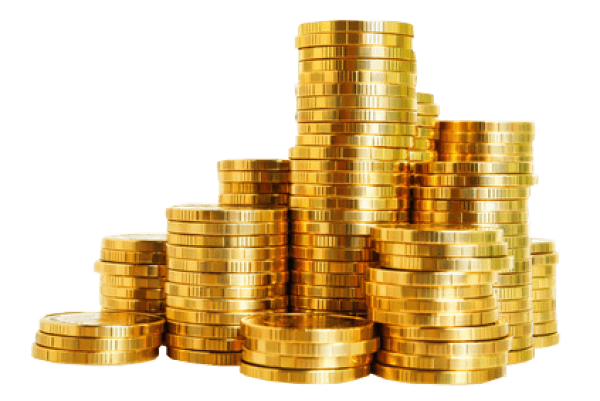 Gold Coins Stack Transparent PNG