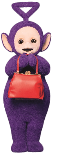 Teletubbies Tinky Winky With Bag Transpa Png Stickpng