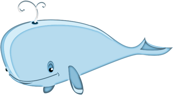 cartoon whale clipart transparent png stickpng
