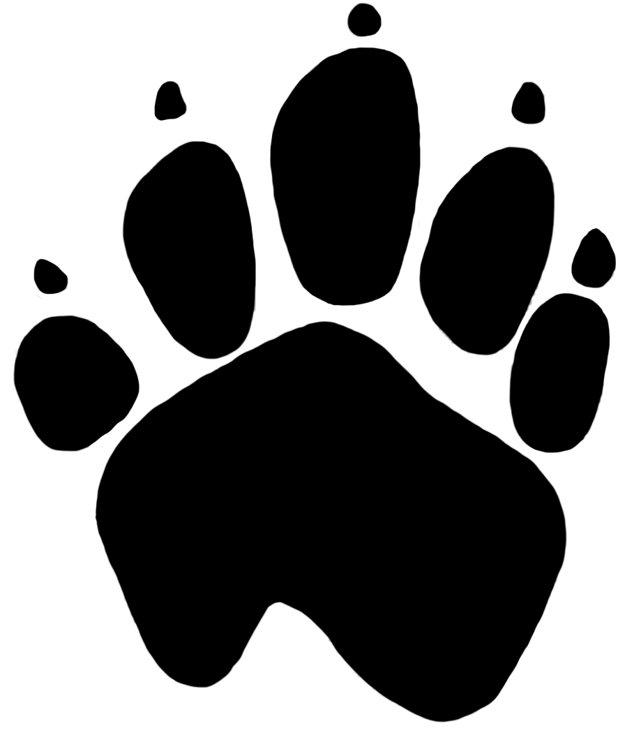 dog paw print transparent png stickpng