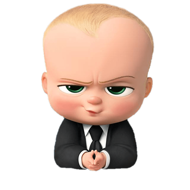 Boss Baby Angry Look Transparent Png Stickpng