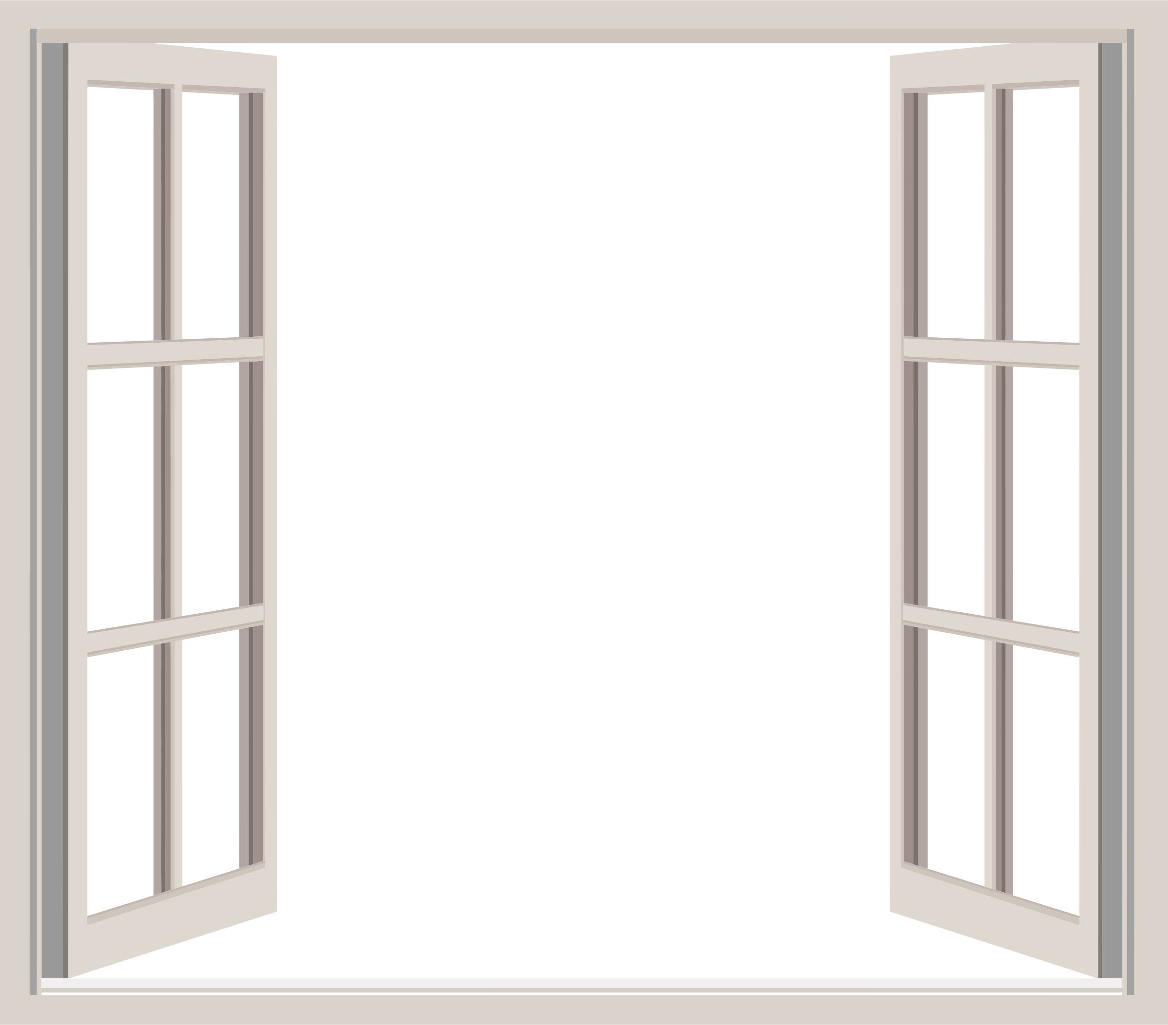 Classic open window transparent png stickpng for Room with no doors or windows