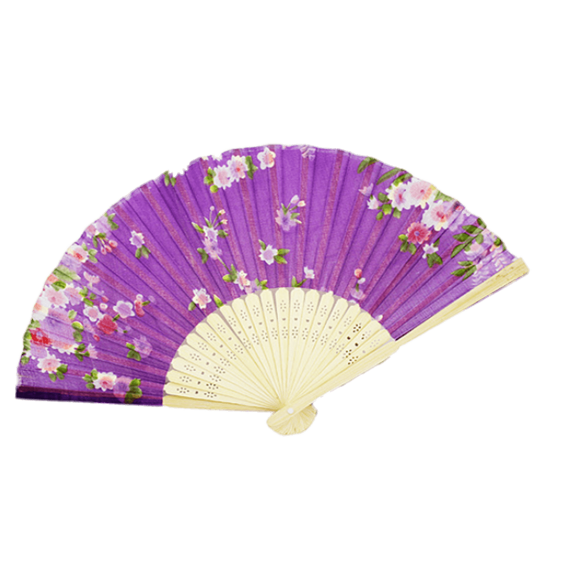 flowers chinese fan transparent png stickpng