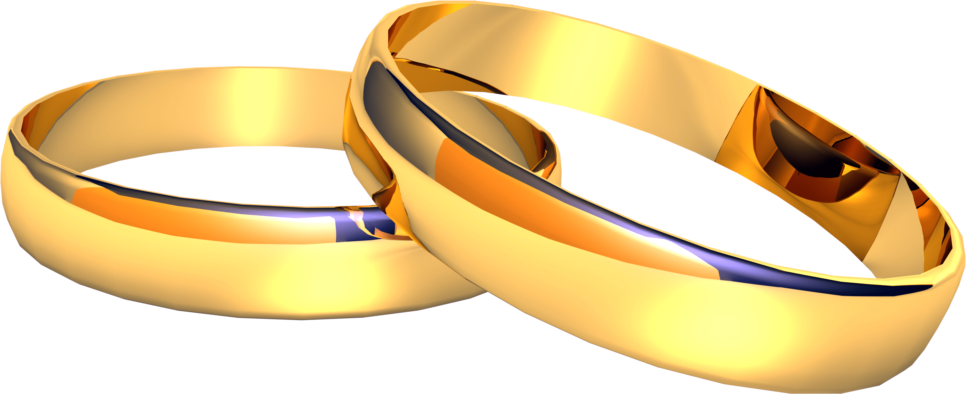 Shiny Wedding Rings Transparent Png Stickpng