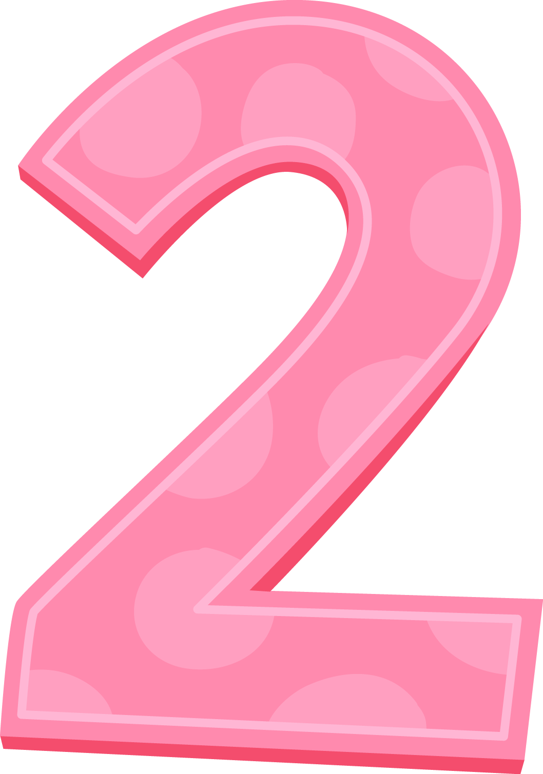 Pink Number 2 transparent PNG - StickPNG