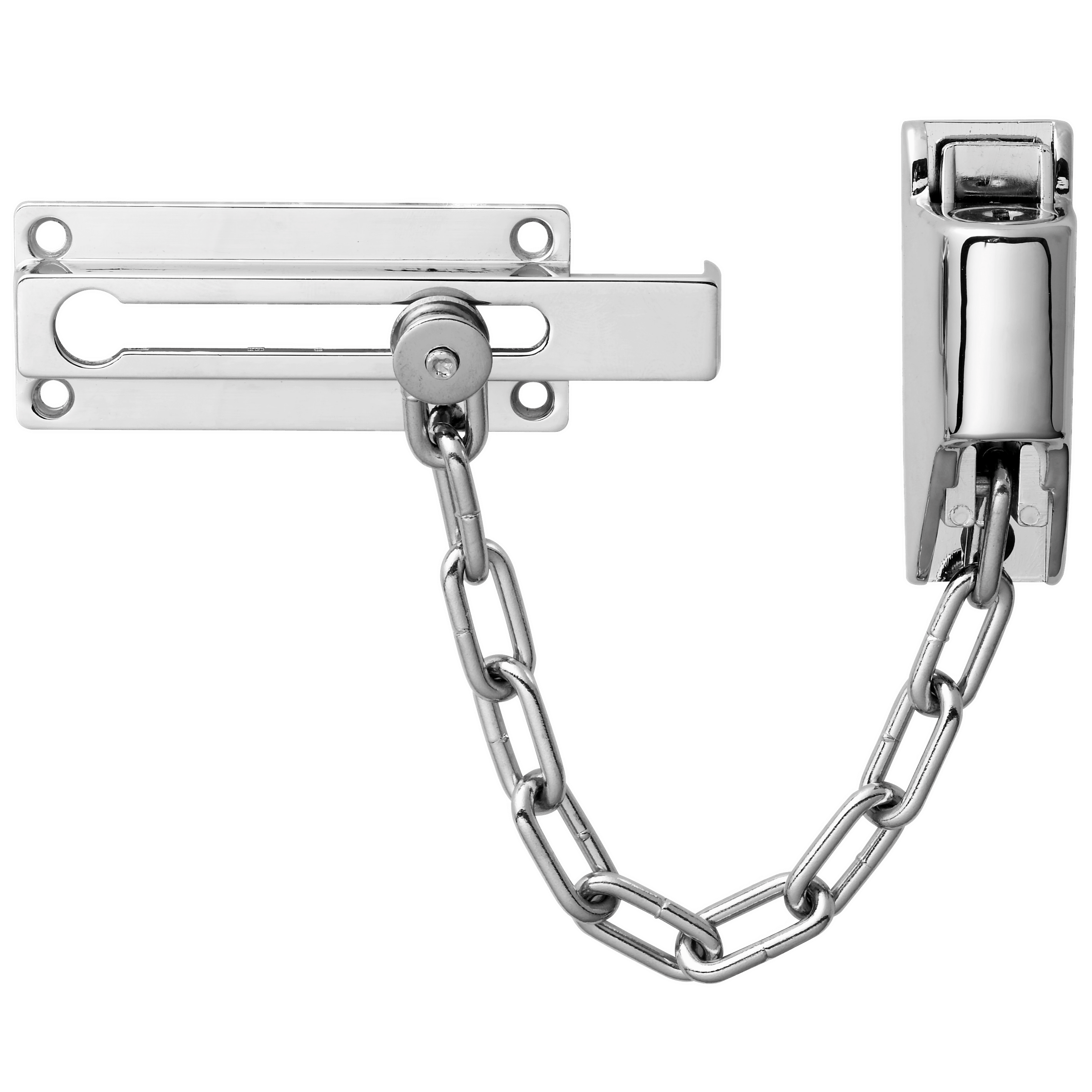 Door Lock Chain Door Chain Lock Sliding Chain Door Lock Alarm Stock Image