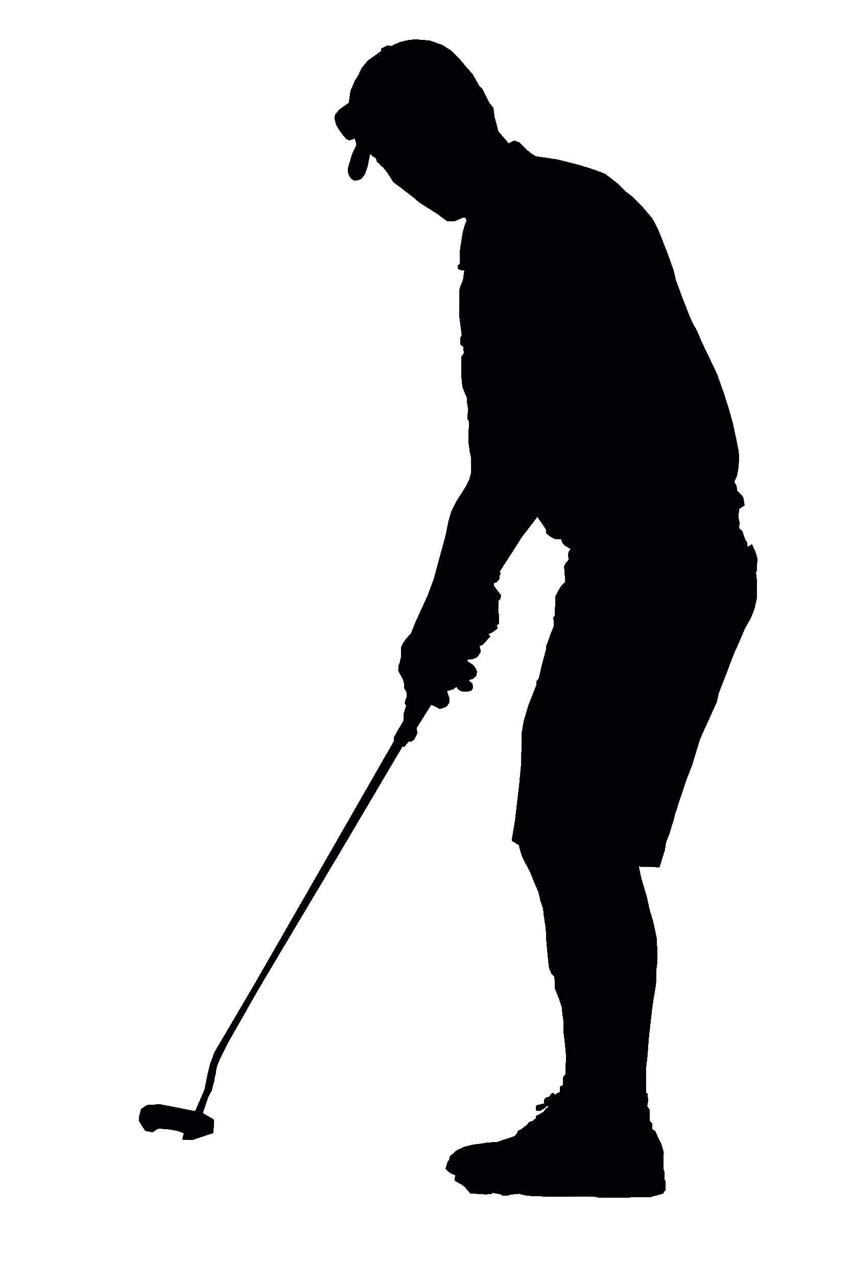 Golfer Black Silhouette Transparent Png Stickpng