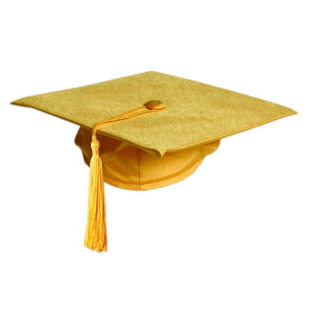Gold Colour Graduation Hat Transparent Png Stickpng