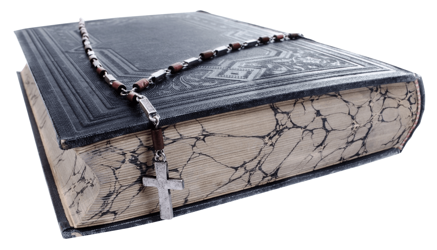 Old Bible With A Cross Transparent PNG